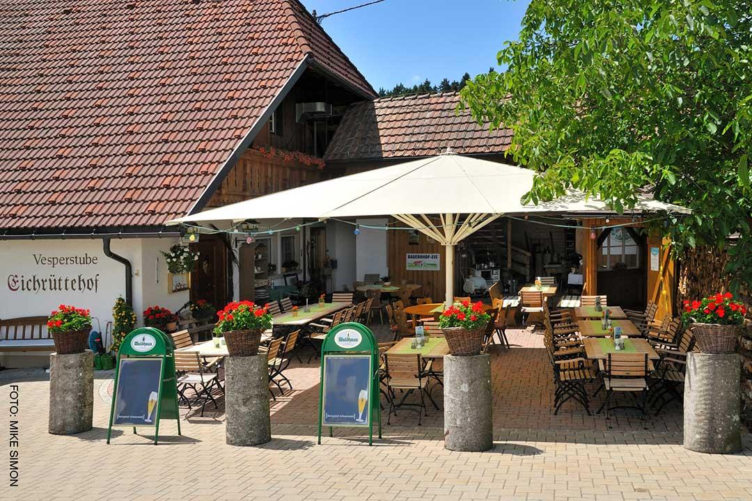 Eichrüttehof Görwihl Wirtsgarten