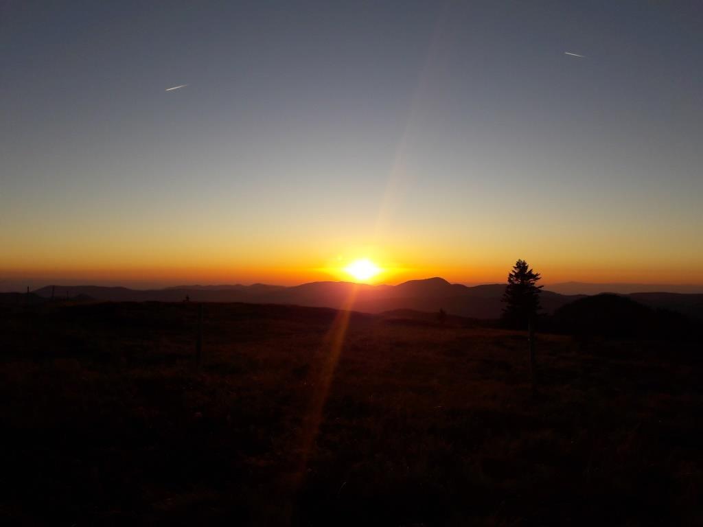 Sonnenuntergang am Herzogenhorn (1.415 müM)